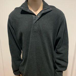 Men's XL Banana republic 1/4 zip/button sweatshirt